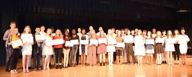Induction into Senior Beta Club held last Friday